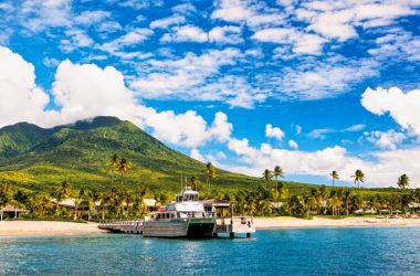 View of Mount Nevis island